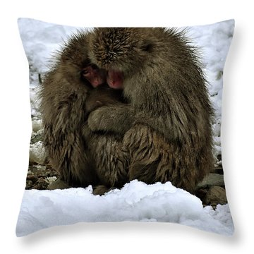 Oh Mummy It's Cold Throw Pillow