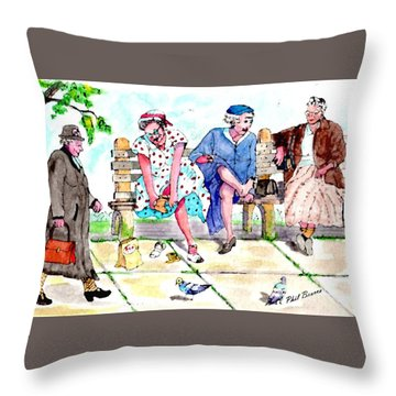 Oh My Aching Feet Throw Pillow