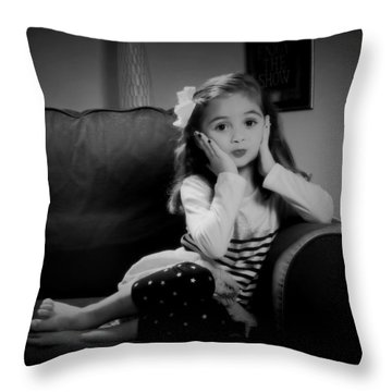 Oh My Throw Pillow