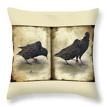 Oh No You Didn't Throw Pillow by Lois Bryan