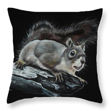 Oh Nuts  Throw Pillow by Jean Cormier