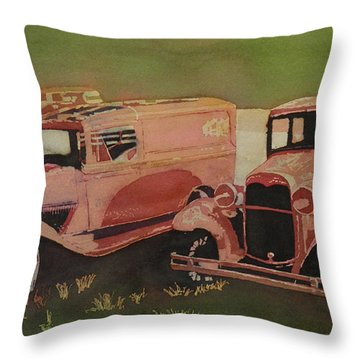 Oh So Tired Throw Pillow by Terry Honstead