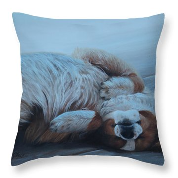 Dog Gone Tired Throw Pillow