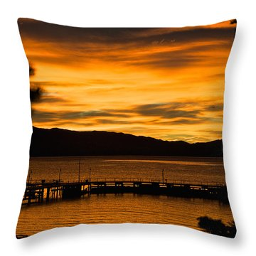 Oh Tahoe Glow Throw Pillow