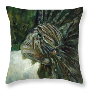 Throw Pillow featuring the painting Oh The Troubles I've Seen by Billie Colson