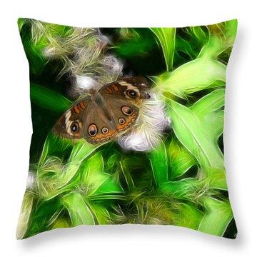 Throw Pillow featuring the photograph Ohio Buckeye by EricaMaxine  Price