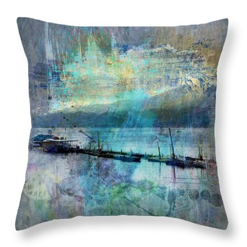 Ohio River Splatter Throw Pillow by Diana Boyd
