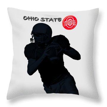 Ohio State Football Throw Pillow by David Dehner