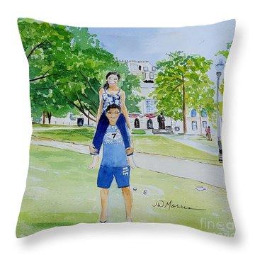 Ohio State Memories Throw Pillow