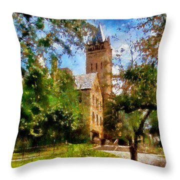 Ohio Wesleyan Chapel Throw Pillow
