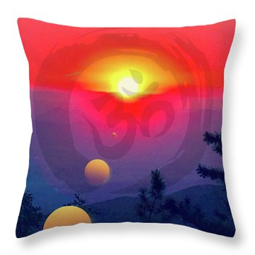 Ohm Throw Pillow by Jack Eadon