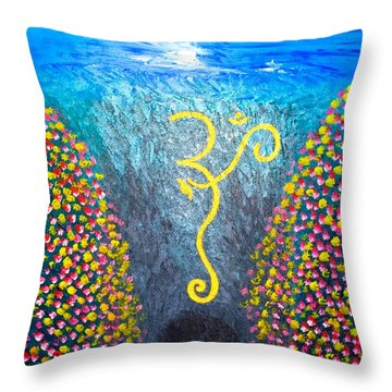 Throw Pillow featuring the painting OHM by Piety Dsilva