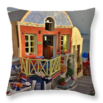 Oia Pub Throw Pillow