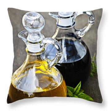 Oil And Vinegar Throw Pillow