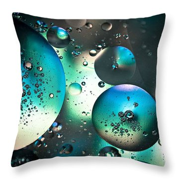 Throw Pillow featuring the photograph Oil And Water 1 by Michaela Preston