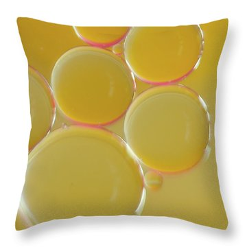 Oil Bubbles On Water Abstract Throw Pillow