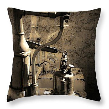 Oil Can Throw Pillow