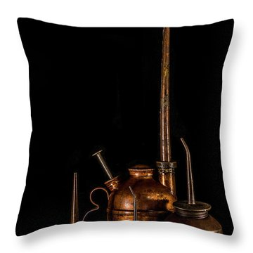Throw Pillow featuring the photograph Oil Cans by Paul Freidlund