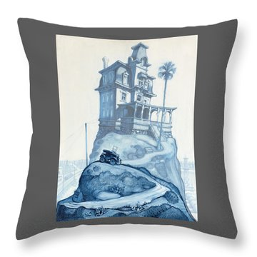 Oil Fields And Orchards Throw Pillow