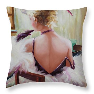 Oil Msc 011 Throw Pillow