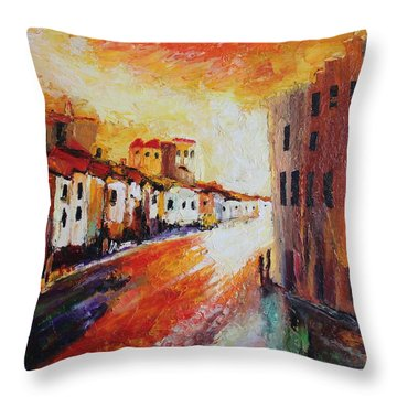 Oil Msc 013 Throw Pillow