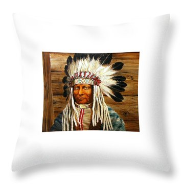 Full Head Dress Throw Pillow