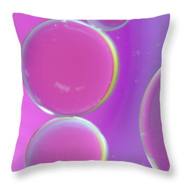 Oil On Water Abstract Throw Pillow