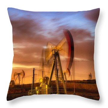 Oil Rig 1 Throw Pillow
