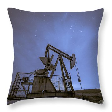 Oil Rig And Stars Throw Pillow