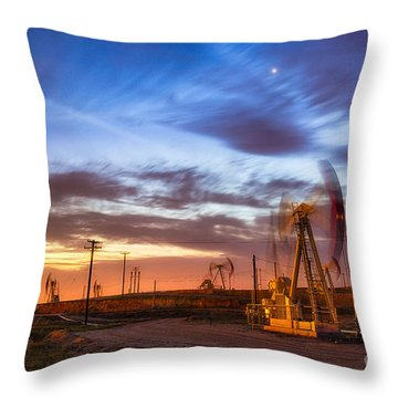 Oil Rigs 3 Throw Pillow