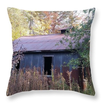 Oil Shed Throw Pillow