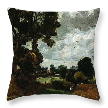 Oil Sketch Of Stoke-by-nayland Throw Pillow by John Constable