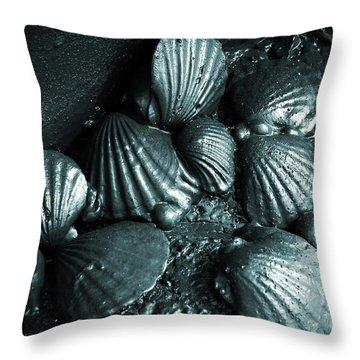 Oil Spill Throw Pillow by Carlos Caetano