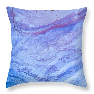 Oil Spill On Water Abstract Throw Pillow