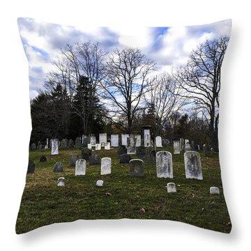 Old Town Cemetery Sandwich, Massachusetts Throw Pillow