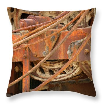 Oil Production Rig Throw Pillow