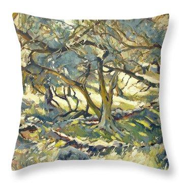 Oilve Grove Marmari Beach Throw Pillow