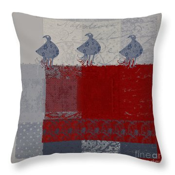 Throw Pillow featuring the digital art Oiselot - J106161103_02bb by Variance Collections