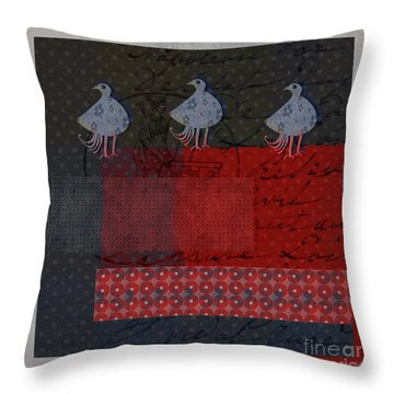 Throw Pillow featuring the digital art Oiselot - S23 by Variance Collections