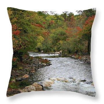 Ok Fishing Throw Pillow