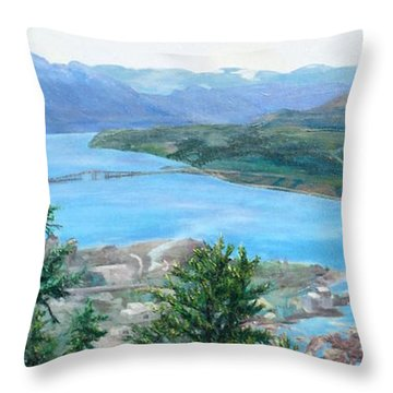 Okanagan Blue Throw Pillow