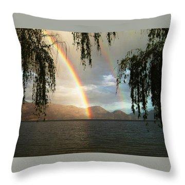 Okanagan Rainbow Throw Pillow