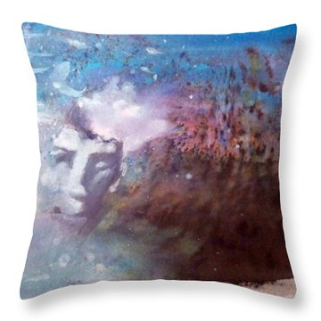 Throw Pillow featuring the painting Okanokumo by Ed  Heaton