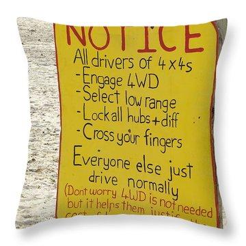 Okavango Humor Throw Pillow
