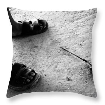 Throw Pillow featuring the photograph Okay That's Ready  by Jez C Self