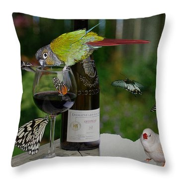 Okay...admittedly...the Party Got A Little Out Of Hand  Throw Pillow