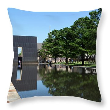 Oklahoma City National Memorial Bombing Throw Pillow