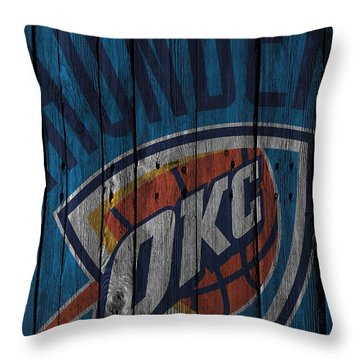 Oklahoma City Thunder Wood Fence Throw Pillow