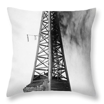 Oklahoma: Oil Well, C1922 Throw Pillow by Granger