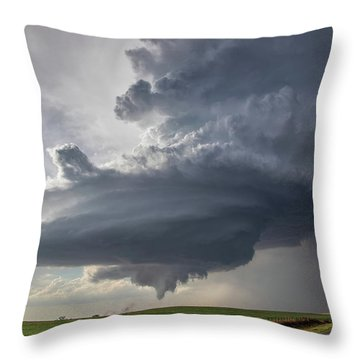 Oklahoma Panhandle Swirl Throw Pillow